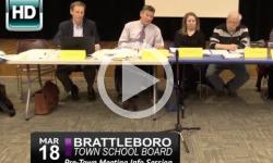 Brattleboro Town School Bd Mtg 3/18/15