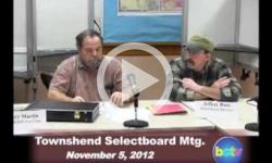 Townshend Selectboard Mtg.: 11/5/12