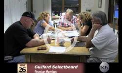 Guilford Selectboard Mtg. 8/26/13
