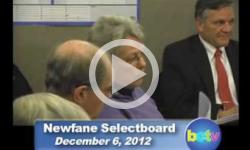 Newfane Selectboard Mtg. 12/6/12
