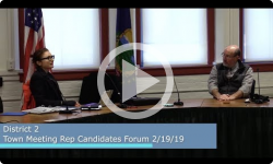Meet the Candidates - District 2 Town Meeting Rep Candidates Forum 2/19/19