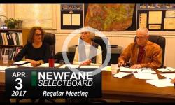 Newfane Selectboard Mtg 4/3/17