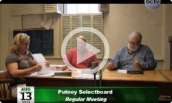 Putney Selectboard Meeting 8/13/14