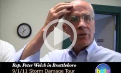 Rep. Peter Welch: Irene Flood Damage Tour 8/31/11