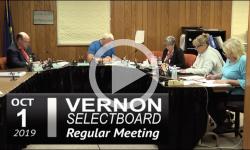 Vernon Selectboard Mtg 10/1/19