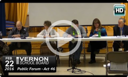 Vernon School Board: 2/22/16 Act 46 Public Forum