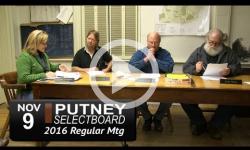 Putney Selectboard Mtg 11/9/16