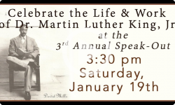 Brooks Memorial Library Events: MLK Day Annual SpeakOUT 2019