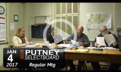 Putney Selectboard Mtg 1/4/17