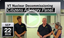 VT Nuclear Decommissioning Citizens Advisory Panel: 9/22/16