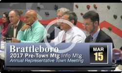 Brattleboro Pre-Rep Town Mtg Info Session 3/15/17