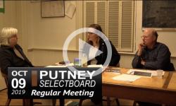 Putney Selectboard Mtg 10/9/19