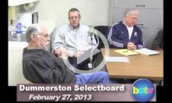 Dummerston SB Mtg. 2/27/13