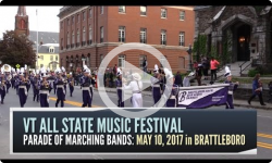 90th VT All State Music Festival - Marching Band Parade 5/10/17