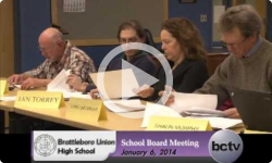 Brattleboro Union High School Bd. Mtg. 1/6/14