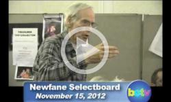 Newfane Selectboard Mtg. 11/15/12