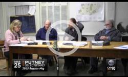 Putney Schoolboard Mtg 3/25/15