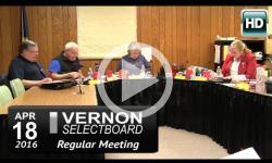 Vernon Selectboard Mtg 4/18/15