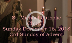 Mass from Sunday, December 16, 2018
