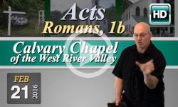 Calvary Chapel: February 21, 2016