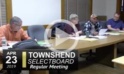 Townshend Selectboard Mtg 4/23/19