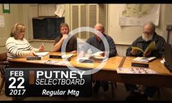 Putney Selectboard Mtg 2/22/17