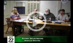 Putney Selectboard Mtg 10/22/14
