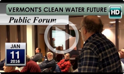 Vermont's Clean Water Future- Public Mtg 1/11/16