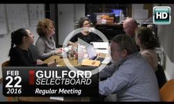 Guilford Selectboard Mtg 2/22/16