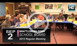Brattleboro Town School Bd Mtg 9/2/15