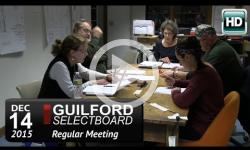 Guilford Selectboard Mtg 12/14/15