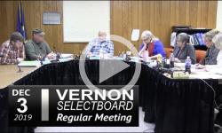 Vernon Selectboard Mtg 12/3/19