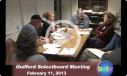 Guilford Selectboard Meeting 2/11/13
