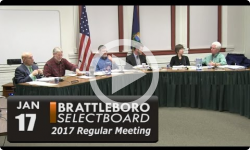 Brattleboro Selectboard Mtg 1/17/17