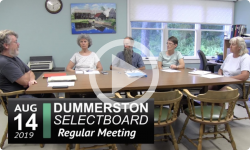 Dummerston Selectboard Mtg 8/14/19