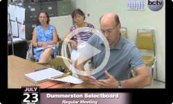 Dummerston Selectboard Mtg 7/23/14