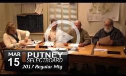 Putney Selectboard Mtg 3/15/17