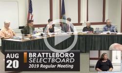 Brattleboro Selectboard Mtg 8/20/19
