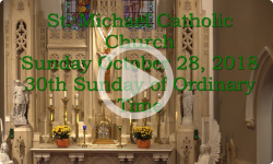 Mass from Sunday, October 28, 2018