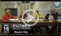 Putney Selectboard 12/16/15