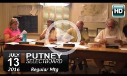 Putney Selectboard 7/13/16