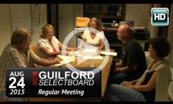 Guilford Selectboard Mtg 8/24/15