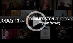 Dummerston Selectboard: Dummerston SB Mtg 1/13/21