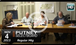 Putney Selectboard 11/4/15