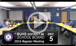 BUHS School Board Mtg 12/5/16