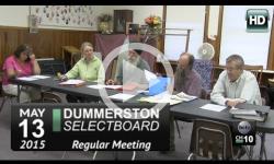 Dummerston Selectboard Mtg 5/13/15