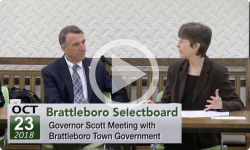 Brattleboro Selectboard: Special SB Mtg with Gov. Scott 10/23/18