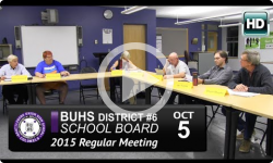 BUHS School Board Mtg 10/5/15