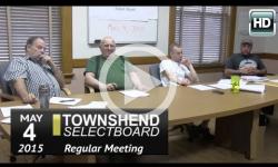 Townshend Selectboard Mtg: 5/4/15