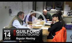 Guilford Selectboard Mtg 11/14/16